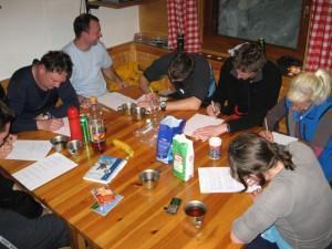 Švicanje med reševanjem testov