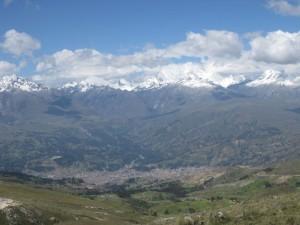 Pogled na Belo verigo in Huaraz