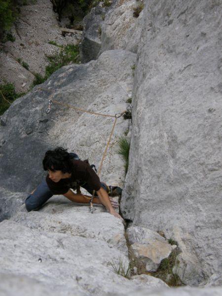 Andraž v Topli med plezanjem malega maratona