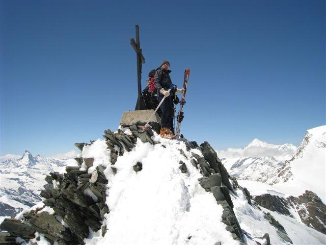 Franc na vrhu Allalinhorna (4027m)