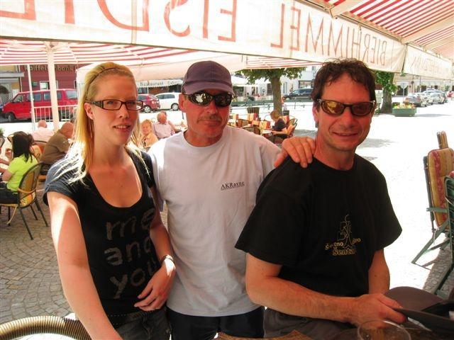 Ludvik in Franc s kelnerco v Gmündu
