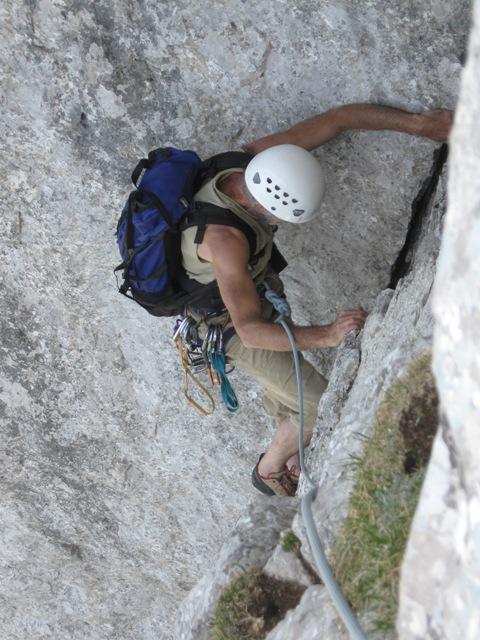 Plezanje z nahrbtnikom je dodatni trening za visoke stene