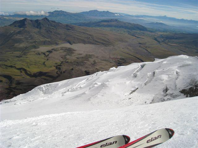 Smuka v srednjem delu je potekala po pravem ledeniškem labirintu s parimi velikimi razpokami.