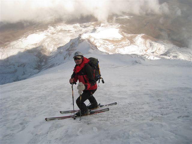Polovica spusta s Chimboraza je bila OK, polovica pa neugodna – neka čudna tanka ledena skorja, ki se globoko predirala.