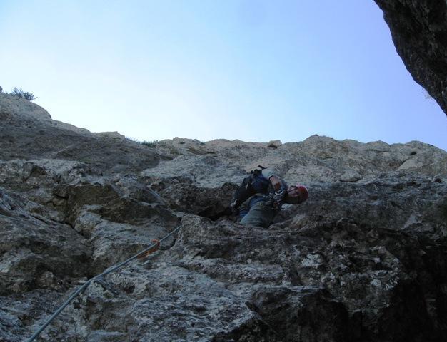 Prvi metri nad varovališčem v luknji, Mihova