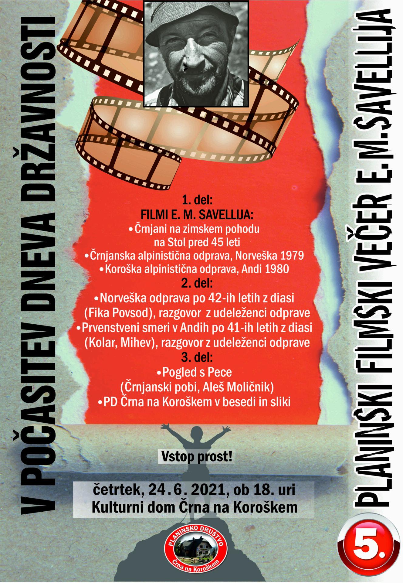 5. Planinski filmski večer E.M.Savellija